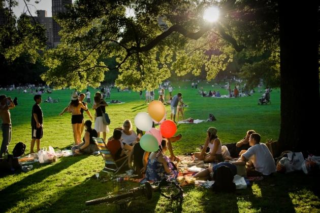 """Creative Commons Picnic at Central Park"" de juanjolostium está licenciada bajo CC"