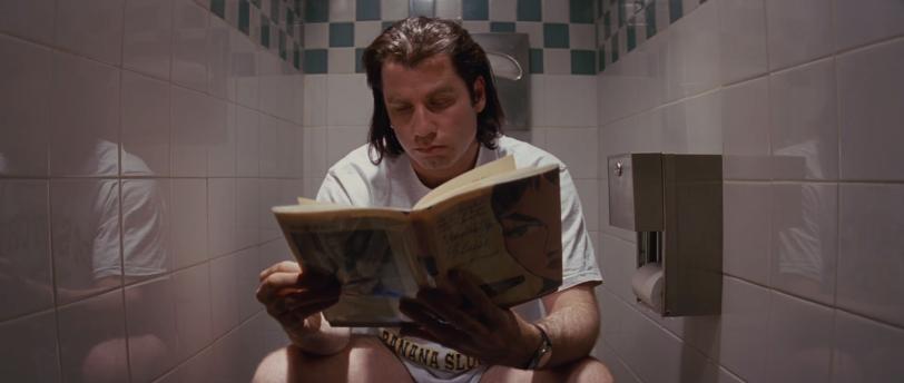 leer en el baño Travolta pulp F